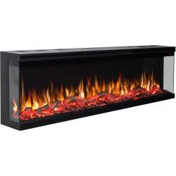 Electric fireplace LED wall UNIQUE 127 cm AFLAMO