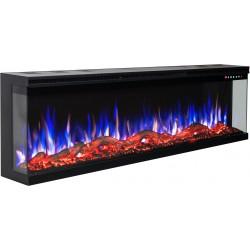 Electric fireplace LED wall UNIQUE 165 cm AFLAMO