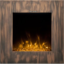 chimenea eléctrica de pared LED AFLAMO - FORT DARK