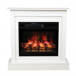 Electric fireplace MILO white classic - ClassicFlame