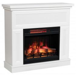 Kemi White Simple LED Electric Fireplace